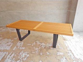 ジョージ ネルソン George Nelson プラットフォーム ベンチ Platform Bench テーブル ビーチ材 ミッドセンチュリーデザイン リプロダクト ♪