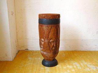 民族楽器 ンゴマ Ngoma コンガ Conga キント 打楽器 民芸品 アフリカ ディスプレイ 高さ71cm ★