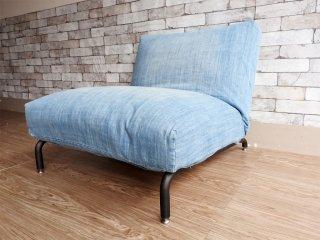 ジャーナルスタンダードファニチャー journal standard Furniture ロデ RODEZ 1人掛け ソファ デニム カバーリング仕様 リクライニングチェア カウチソファ ●