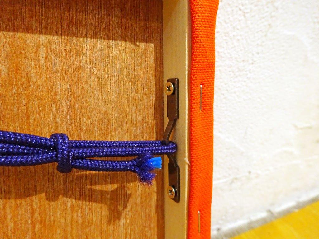 ヴェルナー パントン verner panton ジオメトリック A4サイズ ファブリック パネル オレンジ 木枠 ウォール インテリア★