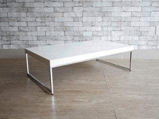 ボーコンセプト BoConcept ルーゴ Lugo コーヒーテーブル センターテーブル ホワイト クロムレッグ モダン 定価\45,900- ●