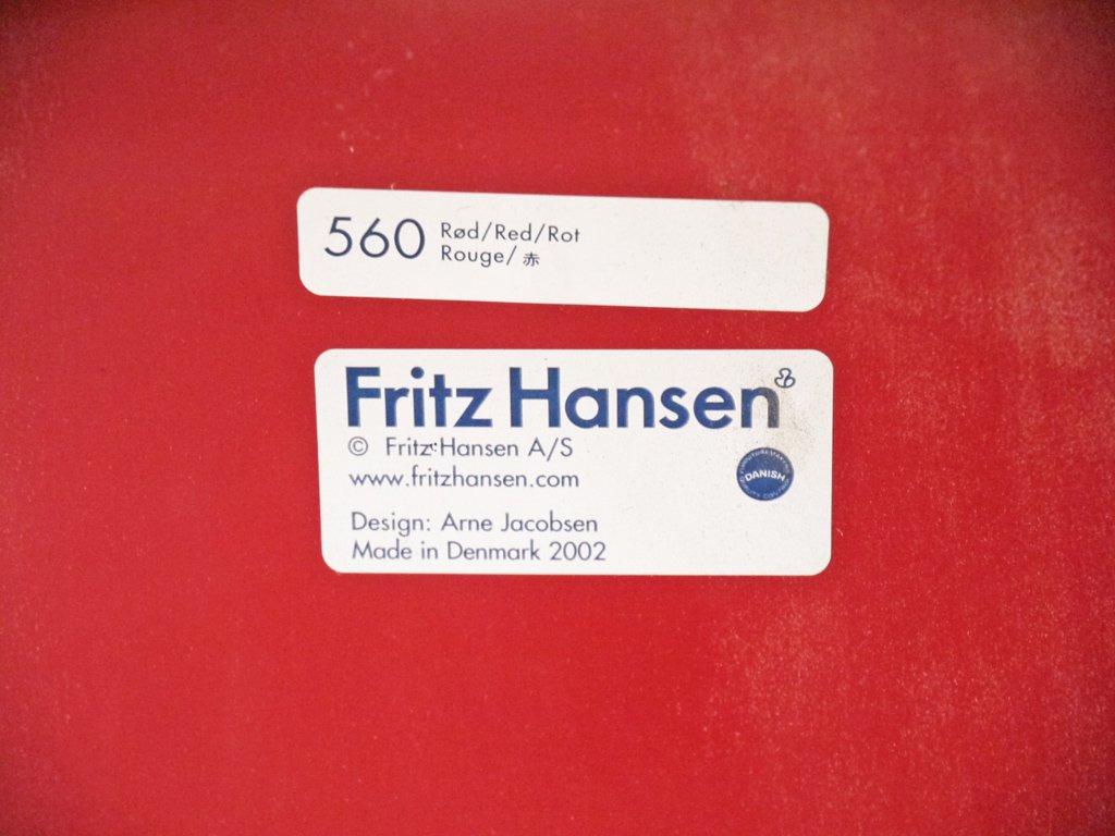 フリッツハンセン Fritz Hansen セブンチェア レッド アルネ・ヤコブセン Arne Jacobsen デンマーク 北欧家具 A  ◇