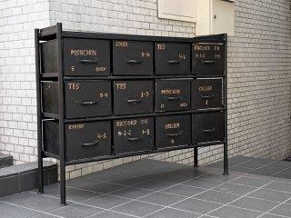 ジャーナルスタンダードファニチャー journal standard Furniture ギデル GUIDEL 12ドロワーズチェスト 12 DRAWERS CHEST インダストリアル ■