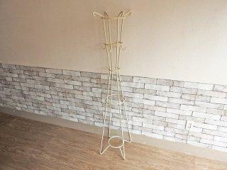 ウニコ unico サラ SARAH ポールハンガー コートスタンド コートハンガー ホワイト アイアン H160cm 廃番カラー アイボリー ●