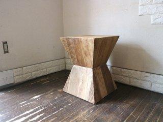 ノットアンティークス Knot antiques リボン サイドテーブル RIBON SIDE TABLE ニレ古材 花台 飾り棚 クラッシュゲート CRASH GATE 取扱 ◎