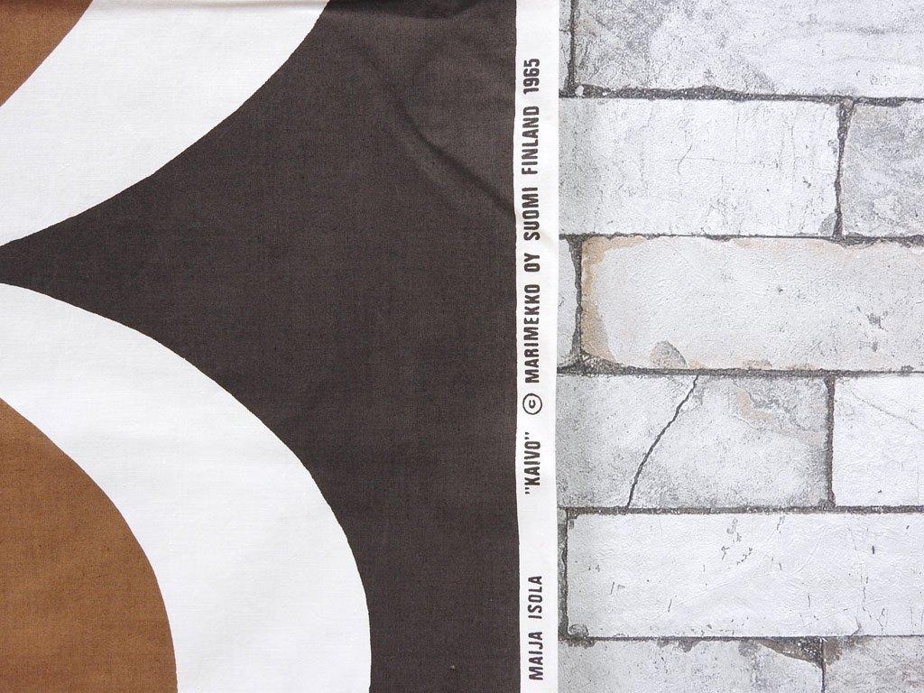 マリメッコ marimekko カイヴォ Kaivo テキスタイル ブラウン × ライトブラウン ビンテージファブリック マイヤ・イソラ Maija Isola ★