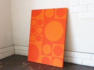 ヴェルナー パントン verner panton ジオメトリック B2サイズ ファブリック パネル オレンジ 木枠 ウォール インテリア ◎