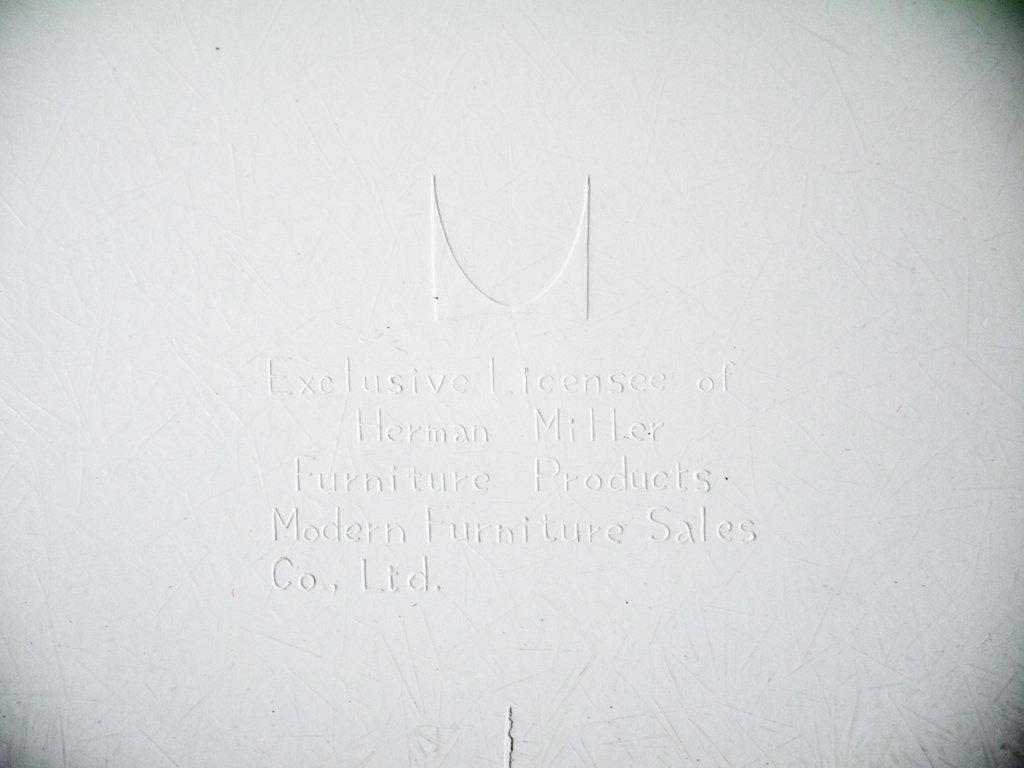 ハーマンミラー Herman Miller サイドシェルチェア ビンテージ FRP エッフェルベース 1stタイプ ジラルド生地 Hopsak レッド ファブリック C&R イームズ A ◇