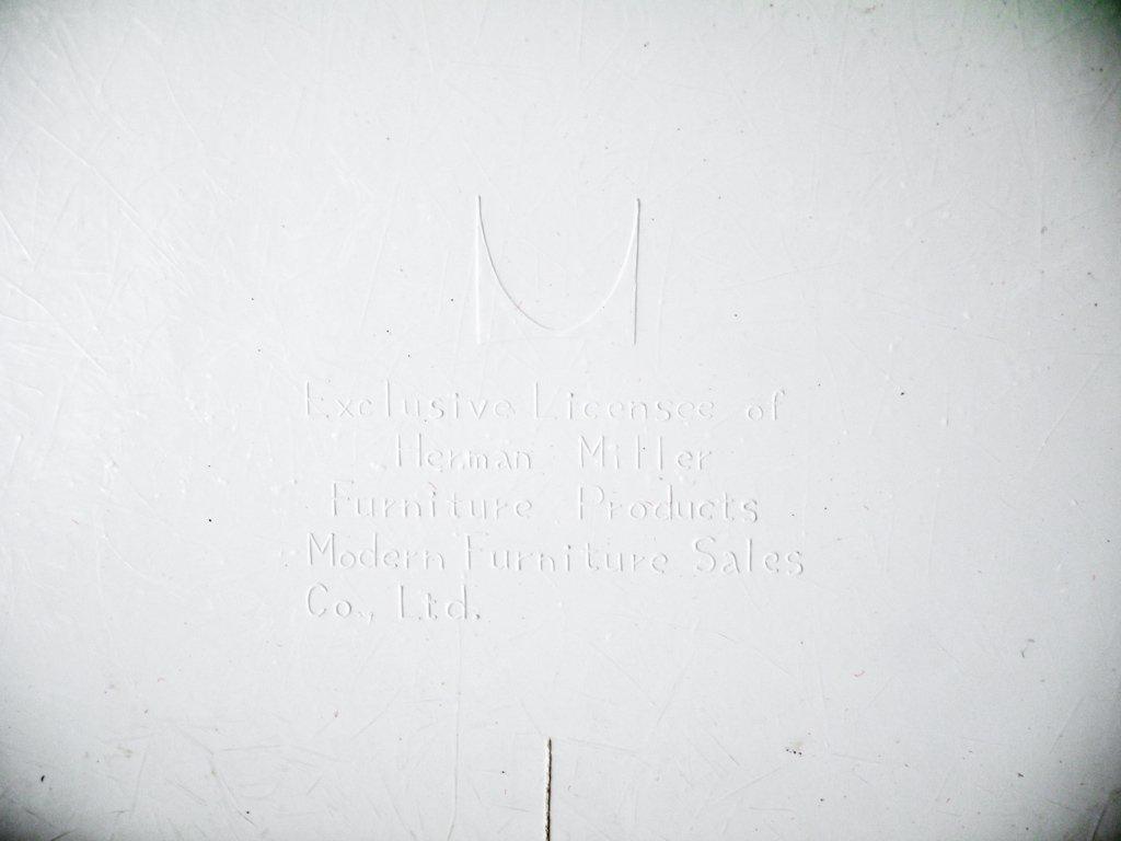 ハーマンミラー Herman Miller サイドシェルチェア ビンテージ FRP エッフェルベース 1stタイプ ジラルド生地 Hopsak レッド ファブリック C&R イームズ B ◇