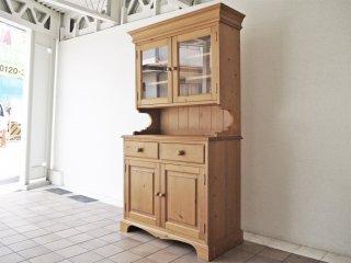 ペニーワイズ THE PENNY WISE パイン無垢材 カップボード キッチンボード 食器棚 英国家具 UKカントリーデザイン ◇