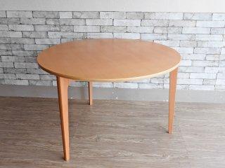 イデー IDEE ダイニングテーブル DC ナチュラル DINING TABLE DC Natural ラウンド ブナ材 天板 3本脚 長大作 定価:151,800円 ●