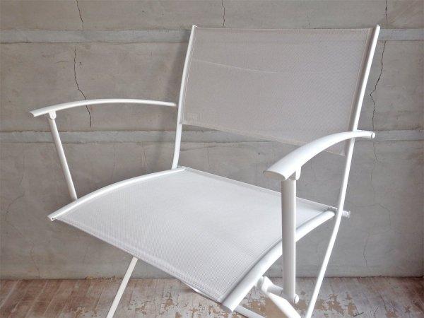 フェルモブ Fermob プレインエアアームチェア Plein air Armchair フォールディングチェア ホワイト   パスカル・ムルグ Pascal Mourgue B ♪