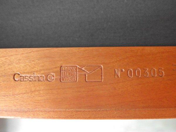 カッシーナ Cassina 609 クーンレイ1 Coonley1 ダイニングチェア ローバック フランクロイドライト FRANK LLOYD WRIGHT 受注輸入品 廃盤 希少 A ♪