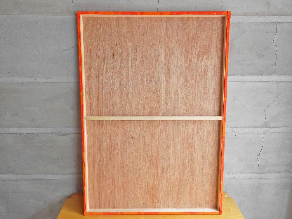 ヴェルナー パントン verner panton ジオメトリ Geometry B1サイズ ファブリック パネル オレンジ 木枠 ウォール インテリア ♪