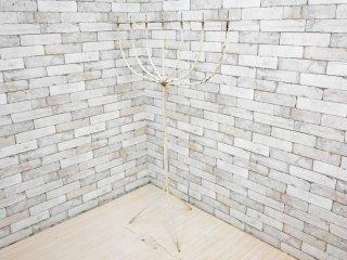 ビンテージ Vintage ホワイトペイント キャンドルタワー キャンドルスタンド 7灯式 トライポッド H145cm 店舗什器 シャビーシック ●