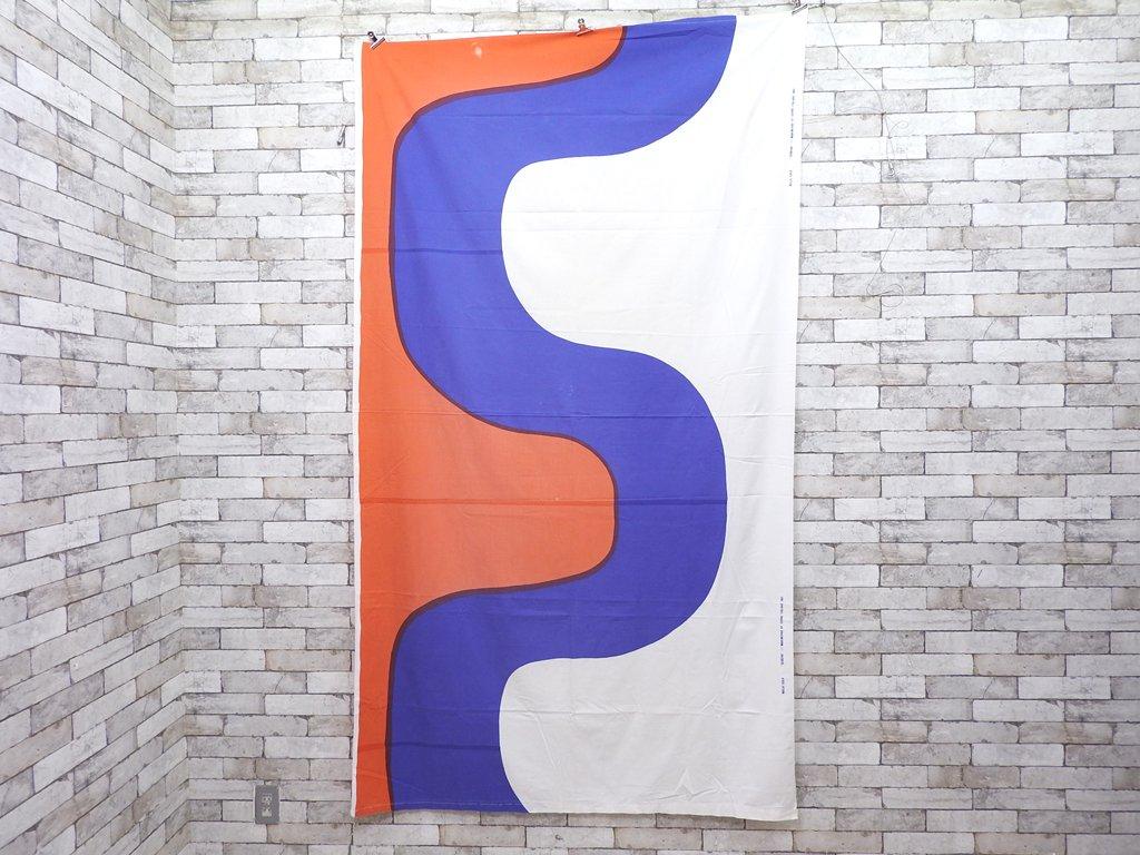 マリメッコ marimekko セイレーニ SEIREENI ファブリック 生地 マイヤ・イソラ 北欧雑貨 上下縫製 色褪せ有 ◎