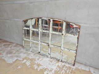 フランス ビンテージ France Vintage シャビーシック 壁掛け  ウォールミラー 鏡 アイアンフレーム 店舗什器 ♪