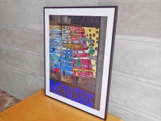 フンデルト ヴァッサー Hundert wasser  『 Save the seas 』 アートポスター ポスター 額装品 現状品 ♪