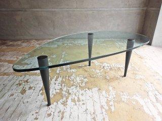 ポラダ porada ハゴ リビングテーブル HAGO LIVING TABLE センターテーブル ローテーブル ガラス チェリー無垢材 タルジオ コルツァーニ イタリア♪
