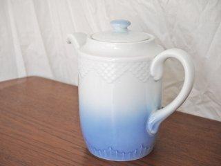 ビングオーグレンダール Bing&Grondahl B&G シーガル モデル825 ティーポット ホワイト×ブルー 北欧食器 ◇