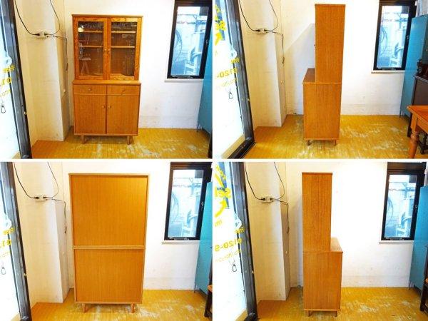 モモナチュラル Momo Natural ベント VENT レッドオーク材 キッチンボード カップボード 食器棚 総額10万円 ★