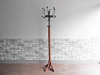 ビンテージスタイル Vintage Style コートハンガー ハットスタンド 無垢材 × アイアン H185cm インダストリアル ●