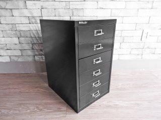 ビスレー BISLEY ベーシック BASICシリーズ BA3/6 A3 デスクキャビネット ブラック 抽斗6杯 オフィス家具 英国 A ●