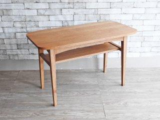 ウニコ unico クルト KURT カフェテーブル オーク材 コーヒーテーブル W100cm 北欧スタイル 定価\40,480- ●