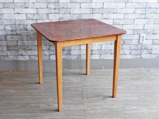 昭和レトロ ケヤキ 欅 ダイニングテーブル リメイク 和家具 古家具 和モダン  ●