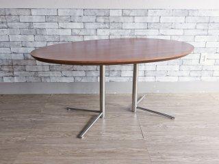 アクタス ACTUS オウン OWN ビッグサイドテーブル オーバル ダイニングテーブル ウォールナット×スチール ●