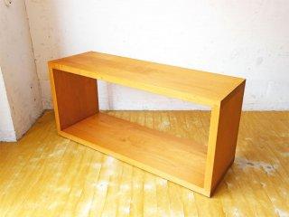 無印良品 MUJI オーダー家具 アルダー無垢材 ベンチテーブル ロの字家具 1段シェルフ AVボード ★