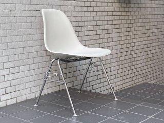 ハーマンミラー HermanMiller サイドシェルチェア スタッキングベース ホワイト ポリプロピレン製 イームズ ミッドセンチュリー B ■