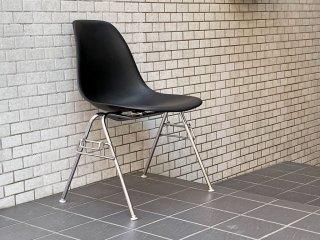 ハーマンミラー HermanMiller サイドシェルチェア スタッキングベース ブラック ポリプロピレン製 イームズ ミッドセンチュリー A ■