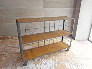 ジャーナルスタンダード ファニチャー journal standard Furniture カルビ ワイド シェルフ CALVI WIDE SHELF LIGHT BROWN 定価88,000円 ♪