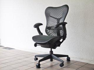 ハーマンミラー Herman Miller ミラチェア Mirra Chair スタジオ7.5 ブラック×グラファイトカラー デスクチェア ◇
