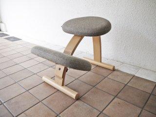 リボ Rybo バランスイージー balans Easy バランスチェア グレー 学習椅子 姿勢矯正 ◇