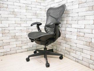 ハーマンミラー Herman Miller ミラチェア Mirra Chair ブラック×グラファイトカラー メッシュシート デスクチェア スタジオ7.5 生産終了品 ●