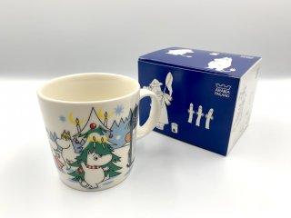 アラビア ARABIA ムーミン マグカップ ムーミンマグ クリスマス 2013年冬季限定 森のクリスマスツリー 箱付 未使用品 ◎