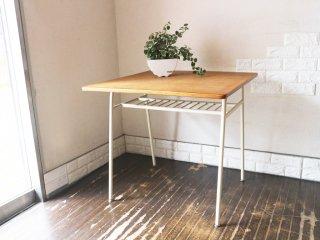 ウニコ unico スクーラ SKOLA ダイニングテーブル オーク材天板 スチール脚 カフェテーブル ノスタルジックデザイン ◎
