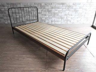 ジャーナルスタンダードファニチャー journal standard Furniture サンク SENS シングルベッド アイアンフレーム ミリタリー インダストリアル j.s.F ●