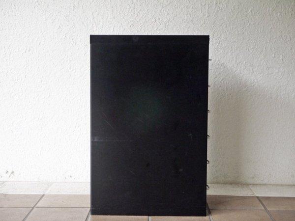 ビスレー BISLEY ベーシック BASICシリーズ 29/6 A4 キャビネット ブラック 抽斗6杯 デスクワゴン オフィス家具 英国 C ◇