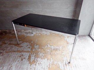 USMハラー USM Haller モジュラーファニチャー Modular Furniture ハラーテーブル ワークデスク W150cm 高さ調整機能付 ブラックウッド天板 A ♪