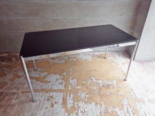USMハラー USM Haller モジュラーファニチャー Modular Furniture ハラーテーブル ワークデスク W150cm 高さ調整機能付 ブラックウッド天板 B ♪