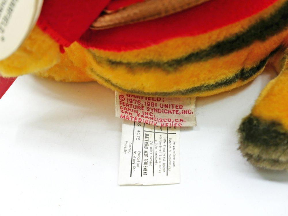 デイキン社 DAKIN ガーフィールド GARFIELD ぬいぐるみ カナダ 騎馬警察 H22cm タグ付 USビンテージ Vintage ●