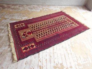 トライバルラグ バルーチ ラグ Bharuch Rug ウール ネイティブ イラン製 深紅 140 × 88 cm ♪