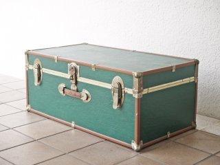 スワードトランク SEWARD TRUNK ビンテージ 木製 トランクケース ブランケットボックス グリーン 収納 店舗什器 レトロ 米国 ◇