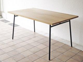 イデー IDEE マタン MATIN ダイニング テーブル 幅140cm オーク無垢材 インダストリアルデザイン リペイントレッグ 定価\96,800- ◇