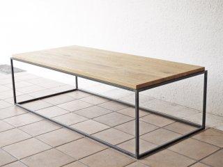 イデー IDEE フレイム テーブル ホワイトオーク トップ FRAME TABLE 1200 White Oak Top ローテーブル 定価\121,000- ◇