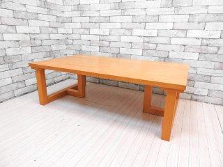 ロックストーン ROCKSTONE ホウジョウ HOUJYO オーダーテーブル PM667+PL23 ローテーブル オーク材 T型脚 長方形 W120cm 岩倉榮利 ●