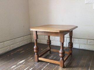 ロイズアンティークス Lloyd's Antiques イギリス アンティーク サイドテーブル オーク材 英国 ◎